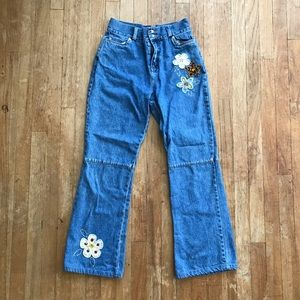 The Children's Place Flower Embroidery Flare Jeans